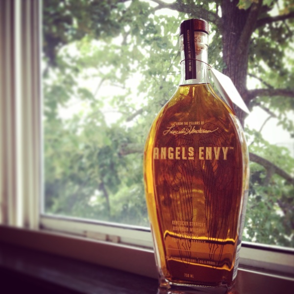 "Angel's Envy -- It's ""nectar of the gods,"" as they say. Kentucky straight bourbon whiskey finished in port barrels. 750mL 43.3% ABV / 96.6 Proof"